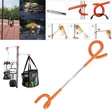 Outdoor Camping 2-way Lantern Light Lamp Hanger Tent Pole Post Hook CF
