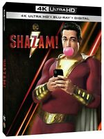Shazam! (4K Ultra HD Blu-Ray, 2019, 2 Discs) Zachary Levi Billy Batson DC