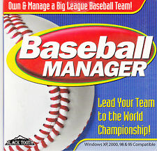 Baseball Manager From Black Tooth - PC CD 2002 - Windows XP, 2000, 98, 95 - New