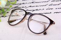 Fashion Trendy Retro Frame Clear Lens Nerd Glasses Eyeglass Eyewear Black Brown