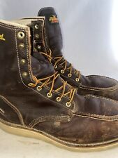 "Men preowned Thorogood 8"" steel toe boot size 11.5ee"