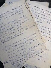 Jean COCTEAU / Manuscrit autographe autobiographique. L'art, la poésie, Picasso