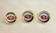 San Francisco 49ers Cufflinks and Tie Tack Set Upcycled from NFL Football Cards