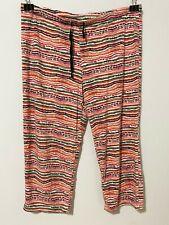 "Secret Treasures womens striped capri pajama pants size Medium (M) (34"" waist)"