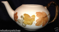 FRANCISCAN OCTOBER TEAPOT 40 OZ NO LID BROWN & YELLOW LEAVES ON CREAM
