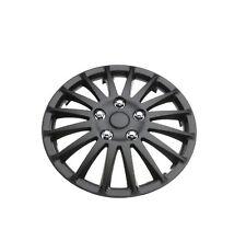 """Hyundai Getz 14"""" Stylish Black Lightning Wheel Cover Hub Caps x4"""