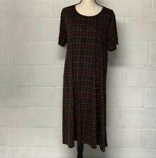 Lularoe Short Sleeve Swing Dress Plaid Plus Size 3X