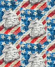 USA-All The Way-Eagles & Flags by Blank Quilting-By The Yard-Red, White & Blue