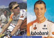 CYCLISME carte cycliste BEAT ZBERG équipe RABOBANK