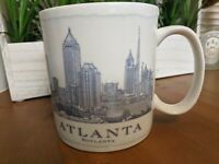 Atlanta Starbucks Coffee Barista Cup Mug City Scenes Series 18oz c 2006