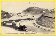 CPA Bretagne SAINT BRIEUC (Côtes d'Armor) Le LÉGUÉ Entrée du PORT BASSIN à FLOT