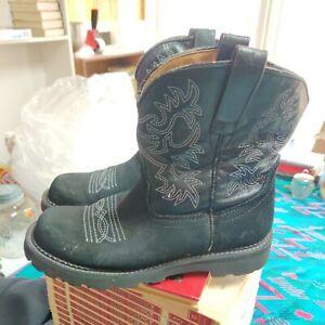Ariat Womens FatBaby Boots Black 9 B