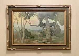 "Original 1917 Marion Kavanagh Wachtel ""THE OAKS"" Volchrome Framed PRINT 34""x 24"""
