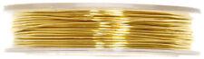 Craft Fábrica Joyas Adornos De Bronce De Alambre de abalorios de 0,5 Mm X 5 Metros Oro