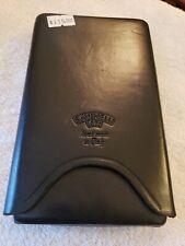 Savinelli black leather cigar travel case NEW