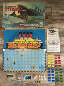 1976 IDEAL - THE SINKING OF THE TITANIC GAME-COMPLETE! SEE ALL PHOTOS! REVIEWS!!