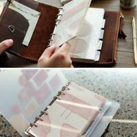 5Pcs A5 A6 Planner Divider Refill Notebook Journal Agenda Spiral Leaf Stati Best