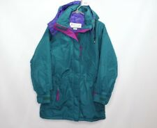 Vtg 90s New Columbia Womens Medium Bristol Bay Parka Winter Jacket Coat Green