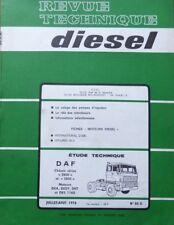 Revue technique DIESEL camion DAF 2800 2805 moteur DKA DKDT DKT DKS RTA 80D 1976
