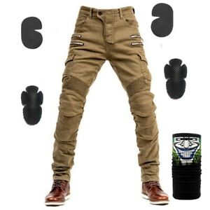 Trousers Zip Pocket Motocross Protective Gear Riding Motorcycle Pants Men Jeans