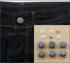 6pc 17mm Antique Silver Jeans Denim Buttons Hammer Press Repair Replace Tack