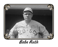 """Babe Ruth Reproduction Photo Picture One Each 8.5"""" X 11"""" + 5"""" x 7"""""""