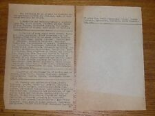 Old Hand Typed Medical Reference - Developmental Defects & Diseases Neurotic