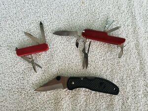 (3) Vintage MULTI TOOL POCKET KNIFE FOLDING UTILITY Lot