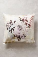 NEW Anthropologie Meadow Dusk Rolfie Euro Sham Set Linen Cotton Floral