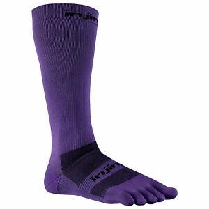 LOT OF 3 Injinji Compression Toe Socks Purple Ex-Celerator LARGE Running Trail