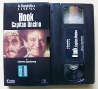 HOOK CAPITAN UNCINO [vhs, La Repubblica Cinema, Columbia Tristar home Video,135'