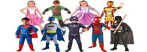 KIDS RUBIES FANCY DRESS UP COSTUMES SUPERHERO-MINION-GANGSTER-FROZEN+MORE 1-10 y