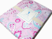 Pottery Barn Kids Pink Kristen Paisley Leaves Full Queen Duvet Cover 2 Shams New