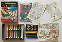 1963 Mighty Mouse PRESTO-PAINTS w/Deputy Dawg Kenner Toy Paint Coloring Set