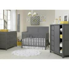 Castello 5-in-1 Convertible Baby Crib in Weathered Gray
