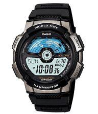 Casio Watch * AE1100W-1AV World Map Black Silicone Ivanandsophia COD PayPal