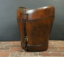 Huge Victorian Solid Leather Double Top Hat Hatbox Henry Heath Gold Medal Winner