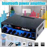 1000W 2 Channel bluetooth Home Stereo Power Amplifier Hi-Fi Audio Amp FM SD USB