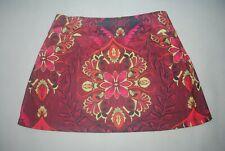 New Athleta Women's Wine Red/Yellow Stretch-in Running Skirt Bottom Size ST