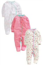 ВNWT NEXT Babygrows Outfit • Little Hearts Sleepsuits 3pk • 100% Cotton •1 Month