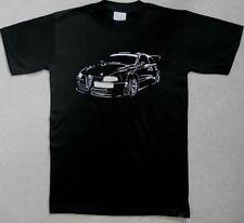 Alfa Romeo 147 Silver GTA Print Black 100% Cotton Tee Shirt BNOS Small Unused