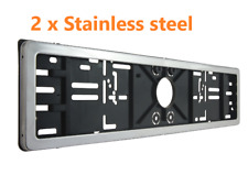 2 X Stainless Steel Number  Plate Surrounds Holder Frame Carmotion
