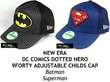 NEW ERA DC COMICS DOTTED HERO 9FORTY ADJUSTABLE CHILDS CAP - Batman/Superman