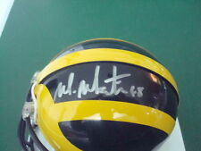 Mike Martin Autograph Michigan Wolverines Mini Helmet Signed