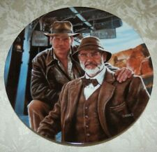 1989 INDIANA JONES and HIS DAD Movie PLATE w/ COA & Box Delphi by Victor Gadino
