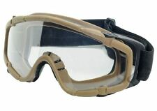 AIRSOFT PAINTBALL OPS CORE JUMP TACTICAL CLEAR SI GOGGLES GLASSES TAN SAND DE