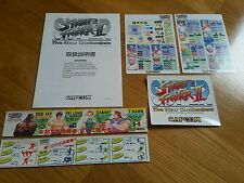New Capcom CPS2 Super Street Fighter II Original PCB arcade flyer marquee