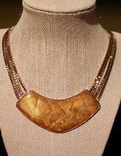 Superb Vintage Trifari Enamel & Gold Tone Necklace by Kunio Matsumoto