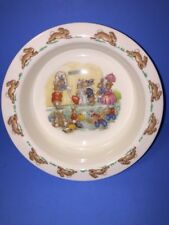 Royal Doulton Bunnykins Theatre Tickets Baby Dish Childs Cereal Soup Bowl Rabbit