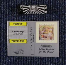 GENESIS Selling England By The Pound BOOKLET w.lyrics,translations Krakow 1992